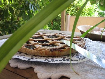 la crostata con marmellata di more